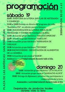 Programación del evento. (F/ Prensa - Cabildo)